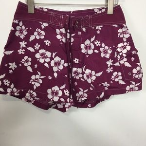 Gap Printed Hawaiian Flowers Swim Shorts Sz. S